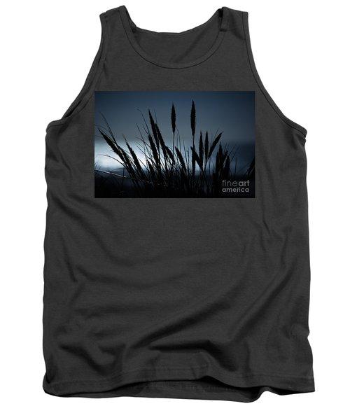 Wheat Stalks On A Dune At Moonlight Tank Top