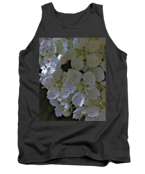 White Blooms Tank Top
