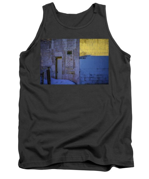 White Building Tank Top