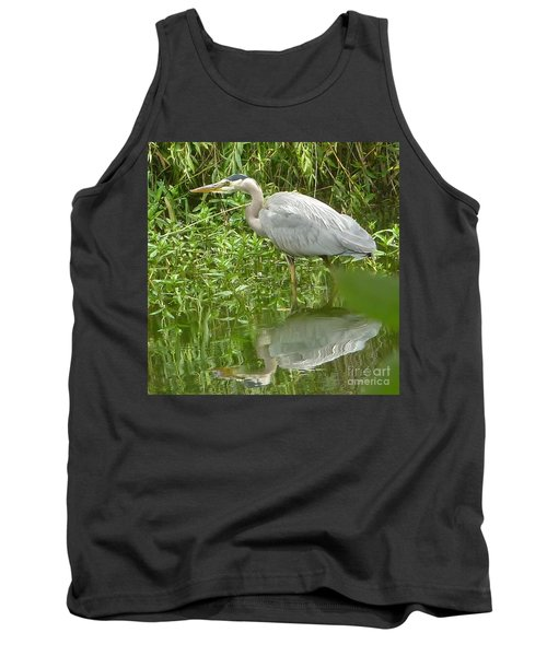 Tank Top featuring the photograph White Egret Double  by Susan Garren
