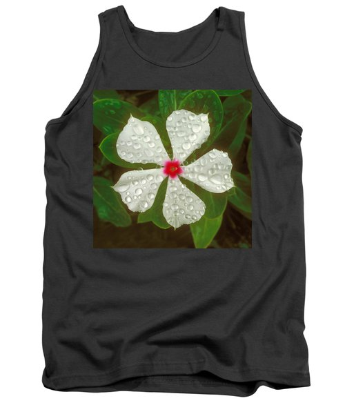 Tank Top featuring the photograph White Periwinkle by Mark Greenberg
