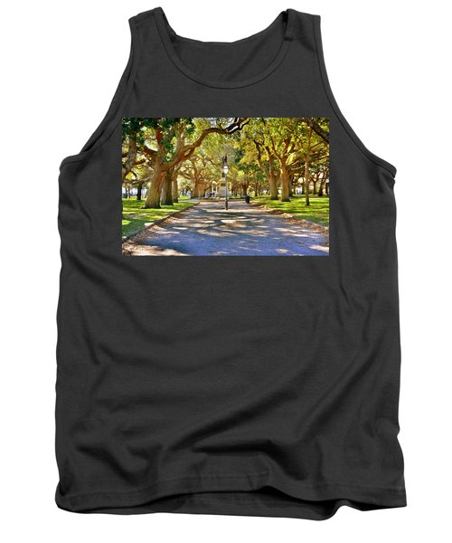 White Point Gardens At Battery Park Charleston Sc Hdr Tank Top