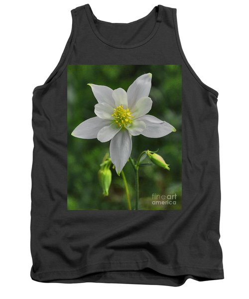 Tank Top featuring the digital art White Star Flower by Mae Wertz