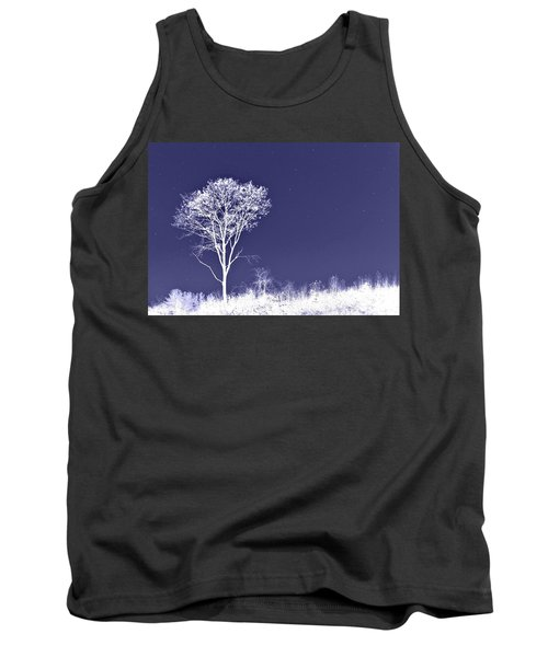 White Tree - Blue Sky - Silver Stars Tank Top