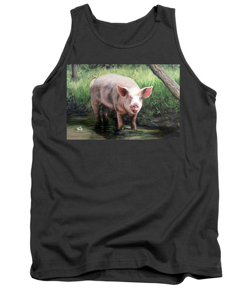 Tank Top featuring the painting Wilbur In His Woods by Sandra Chase