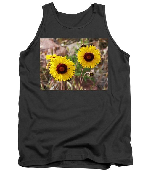Tank Top featuring the photograph Wild Flowers Above The Rim by Tom Janca