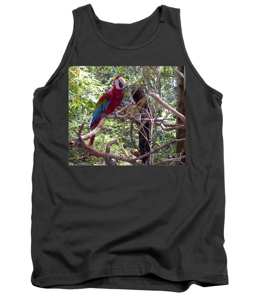 Tank Top featuring the photograph Wild Hawaiian Parrot  by Joseph Baril