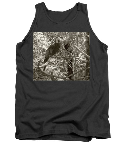 Tank Top featuring the photograph Wild Hawaiian Parrot Sepia by Joseph Baril