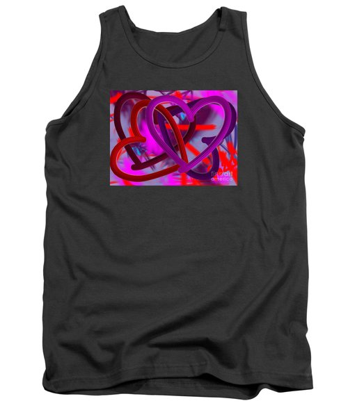 Tank Top featuring the painting Wild Hearts by Go Van Kampen