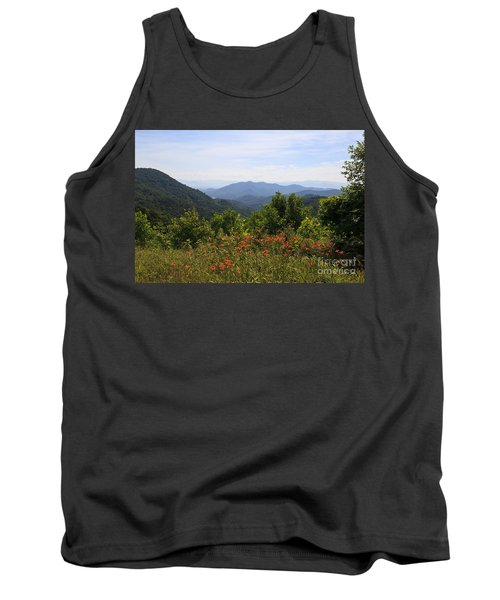 Wild Lilies With A Mountain View Tank Top