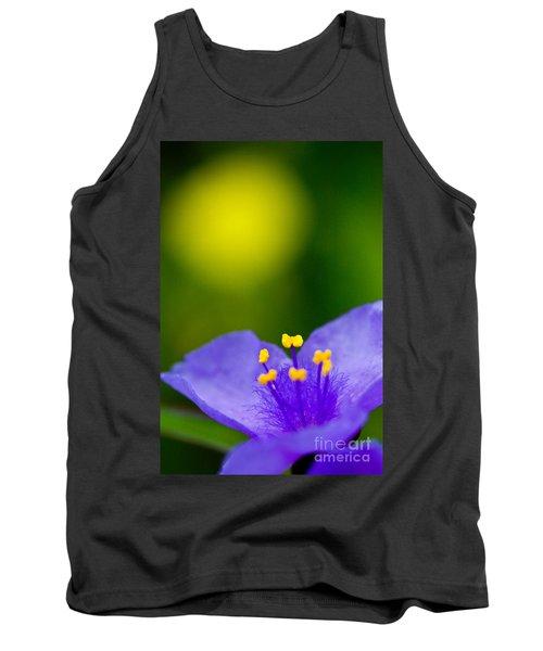 Wild Purple Spiderwort Wildflower Tank Top