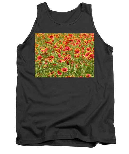 Tank Top featuring the photograph Wild Red Daisies #1 by Robert ONeil