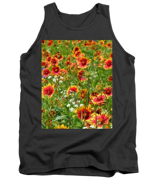 Tank Top featuring the photograph Wild Red Daisies #2 by Robert ONeil