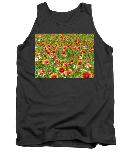 Tank Top featuring the photograph Wild Red Daisies #3 by Robert ONeil