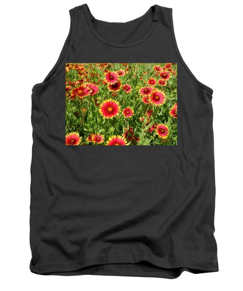 Tank Top featuring the photograph Wild Red Daisies #4 by Robert ONeil