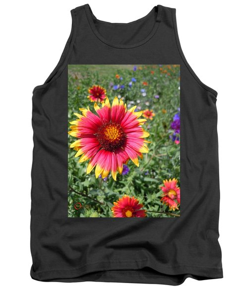 Tank Top featuring the photograph Wild Red Daisy #1 by Robert ONeil