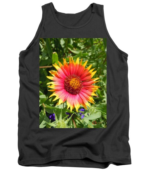 Tank Top featuring the photograph Wild Red Daisy #3 by Robert ONeil
