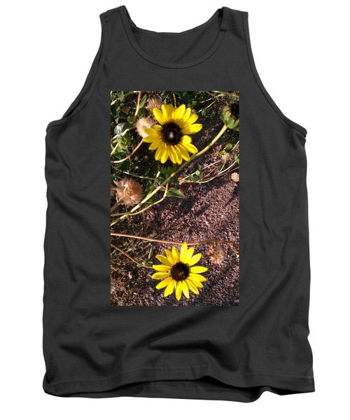 Tank Top featuring the photograph Wild Sunflowers by Fortunate Findings Shirley Dickerson