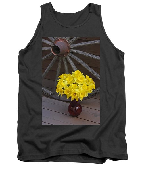 Tank Top featuring the photograph Wild West Daffodils by Diane Alexander