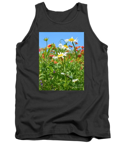 Tank Top featuring the photograph Wild White Daisies #2 by Robert ONeil
