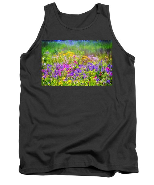 Wildflower Beauty  Tank Top by Peggy Franz