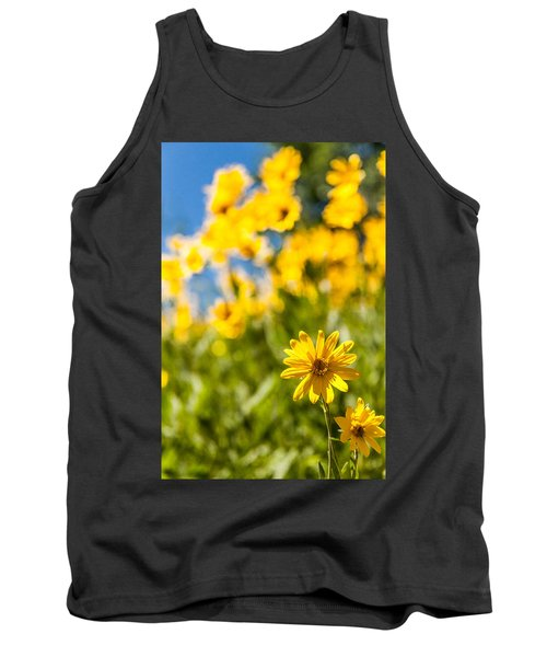 Wildflowers Standing Out Abstract Tank Top