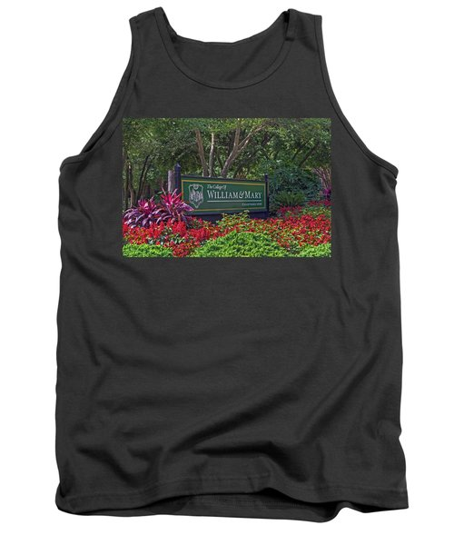 William And Mary Welcome Sign Tank Top