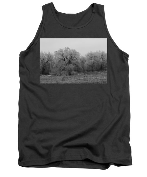 Willow Trees Iced B/w Tank Top