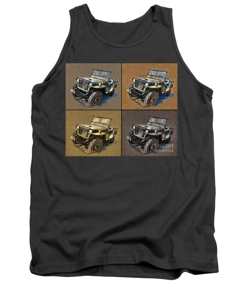 Willys Jeep Mb Car Drawing Tank Top