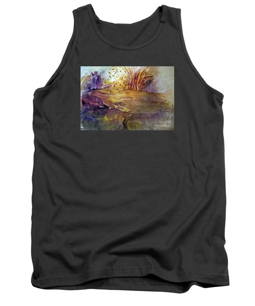 Tank Top featuring the painting Wind In Fall by Allison Ashton