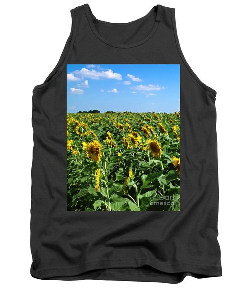 Windblown Sunflowers Tank Top