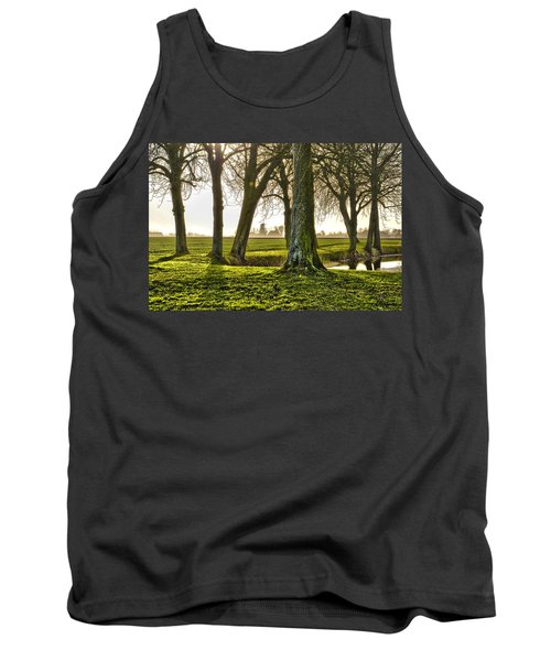 Windmill And Trees In Groningen Tank Top