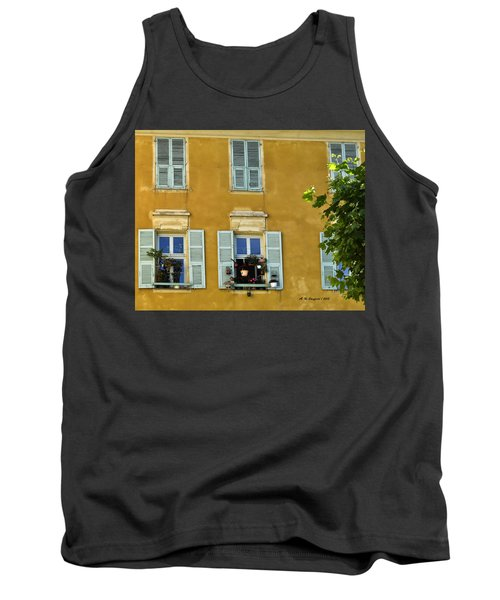Tank Top featuring the photograph Windowboxes In Nice France by Allen Sheffield