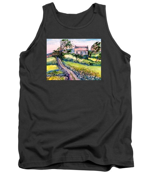 Tank Top featuring the painting Windy Day Clear Island  by Trudi Doyle