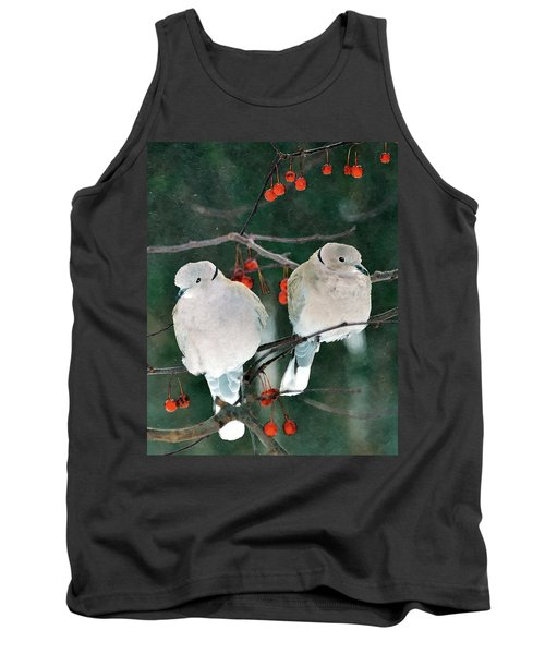 Winter Doves Tank Top
