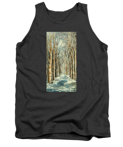 Tank Top featuring the painting Winter Dreams by Tatiana Iliina