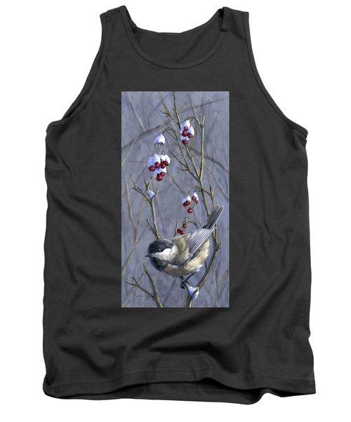 Winter Harvest 2 Chickadee Painting Tank Top