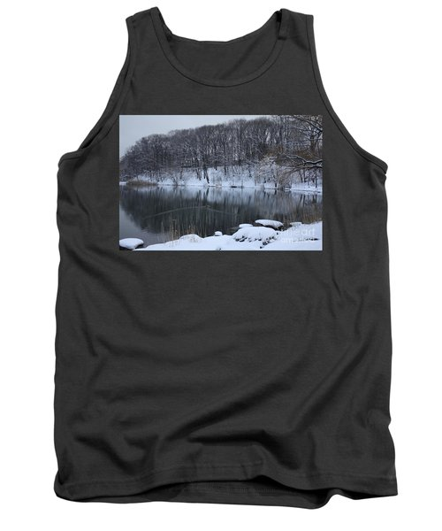 Tank Top featuring the photograph Winter Reflections by Dora Sofia Caputo Photographic Art and Design