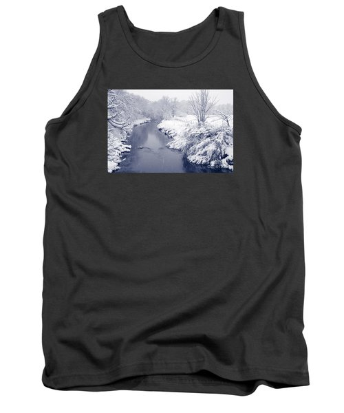 Tank Top featuring the photograph Winter River by Liz Leyden