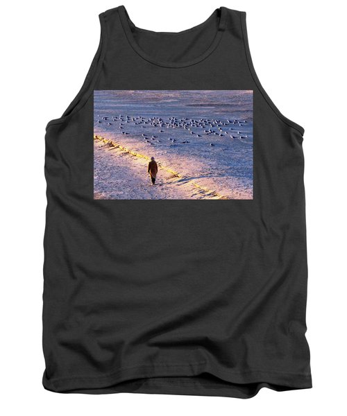 Tank Top featuring the photograph Winter Time At The Beach by Cynthia Guinn
