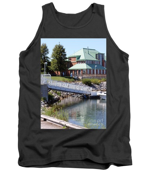 Tank Top featuring the photograph Winthrop Harbor Shore by Debbie Hart