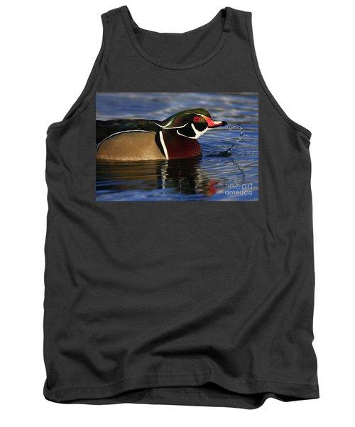 Wood Duck Waterdrops Tank Top