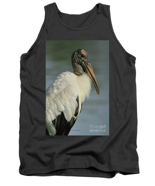 Wood Stork In Oil Tank Top