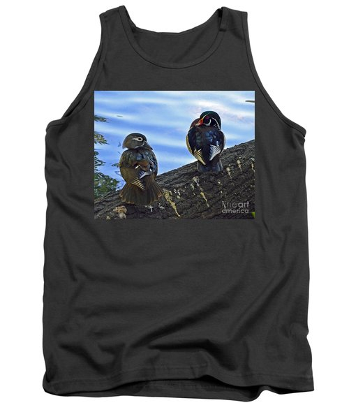 Tank Top featuring the photograph Wood You Love Me Forever by Robert Meanor