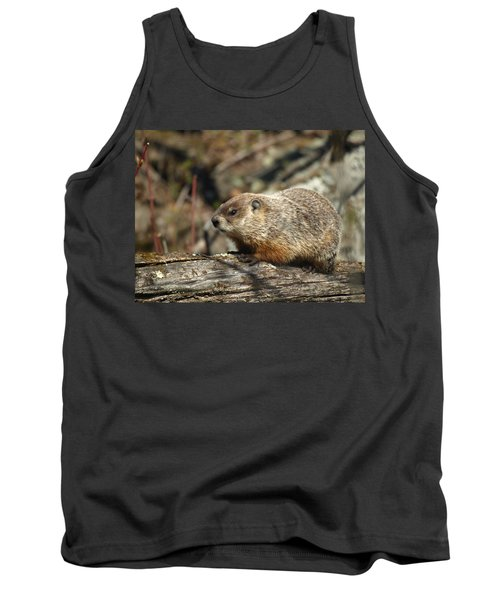 Tank Top featuring the photograph Woodchuck by James Peterson