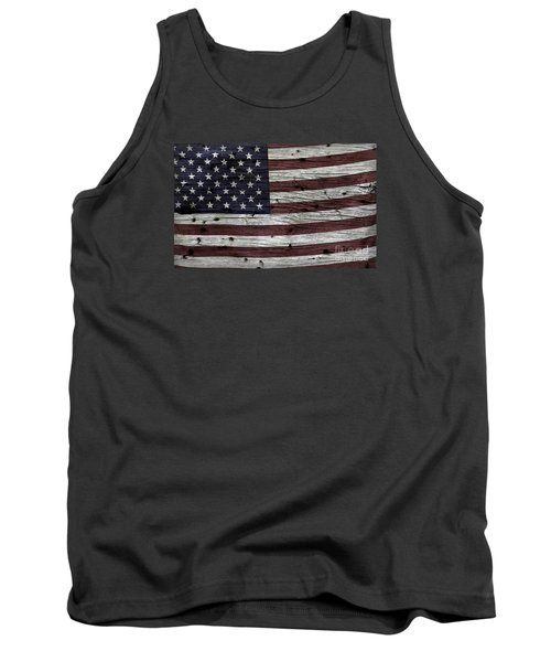 Wooden Textured Usa Flag3 Tank Top by John Stephens