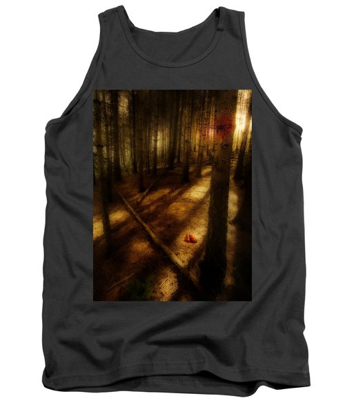 Tank Top featuring the photograph Woods With Pine Cones by Meirion Matthias