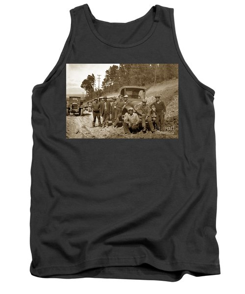 Workers On Highway One Monterey Carmel Hill California 1929 Tank Top