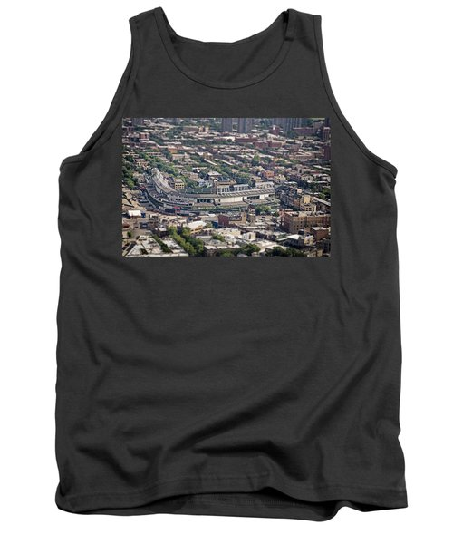 Wrigley Field - Home Of The Chicago Cubs Tank Top by Adam Romanowicz