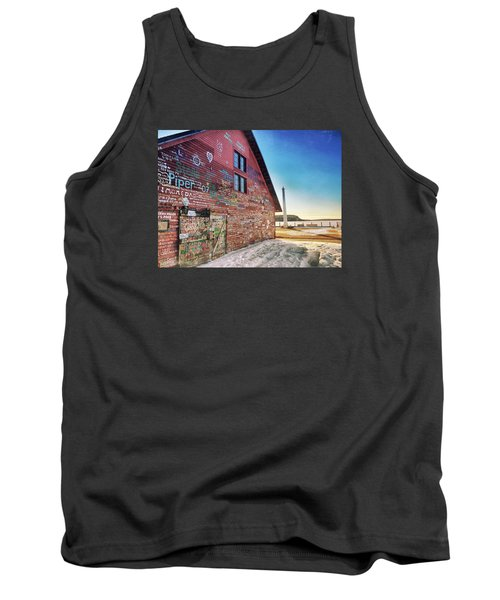 Writing On The Wall Tank Top by Luke Collins